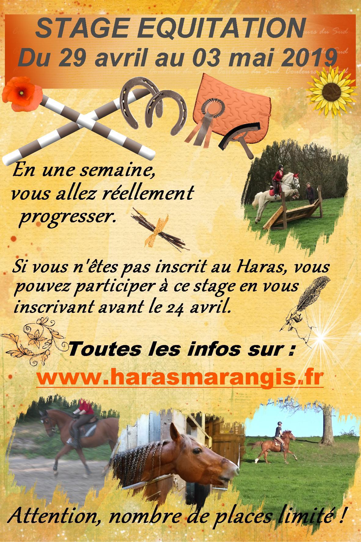 Stage équitation - avril 2019